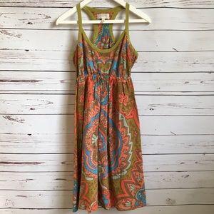 Anthropologie Moulinette Soeurs boho silk dress